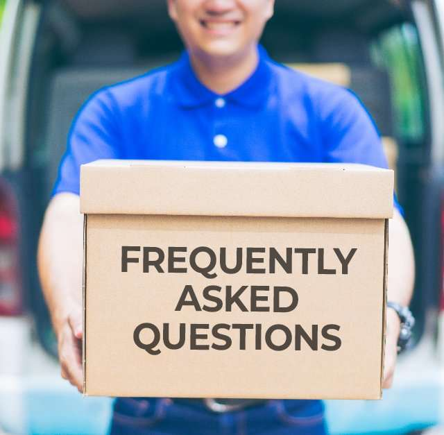 Delivery Concept – Smiling Happy Young Asian Handsome Male Posta